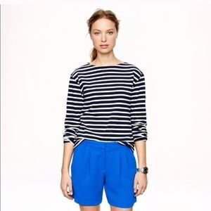 JCrew Size 8 Cobalt Blue Crepe Trouser Shorts